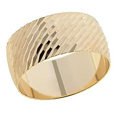 Technibond® Diamond-Cut Band Ring - Yellow