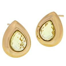 Technibond® Lemon Quartz Electroform Earrings