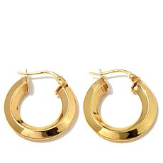 Technibond® Small Knife-Edge Hoop Earrings