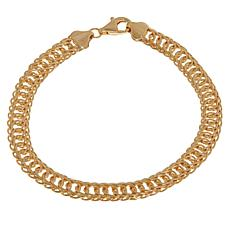 Technibond® Textured Oval Link Bracelet