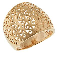 Technibond® Yellow Filigree Swirl Dome Ring
