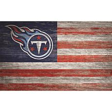 Tennessee Titans Distressed Flag 11x19