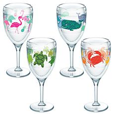 Tervis Flamingo/Whale/Turtle/Crab 9 oz. Wine Glass