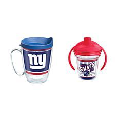 Tervis NFL New York Giants Legend Coffee Mug & Born A Fan Sippy Cup