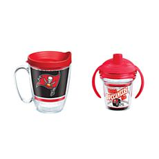 Tervis NFL Tampa Bay Buccaneers Legend Mug & Born A Fan Sippy Cup
