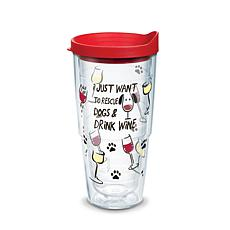 Tervis Project Paws I Just Want to Rescue Dogs & Drink Wine 24 oz T...