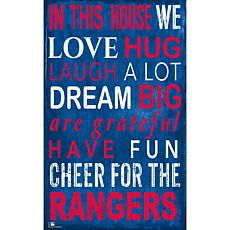 Texas Rangers In This House Sign