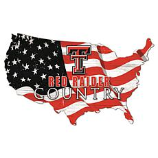 Texas Tech University USA Shape Flag Cutout