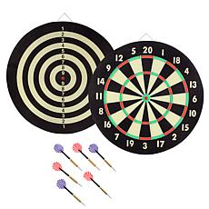 TGT Game Room Dart Set with 6 Darts and Board