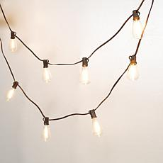 The Gerson Co. 15-Foot Long Solar Patio Light String with ST38 Bulbs