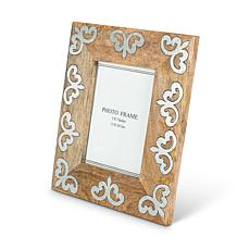 The Gerson Company Mango Wood with Metal Inlay Heritage Frame