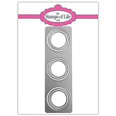 The Stamps of Life Circle Triple Slimline Shape Die Set