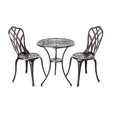 Theon Antique Bronze 3-piece Bistro Set