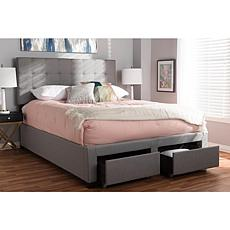Tibault Fabric Upholstered Queen Size Storage Bed