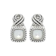 Tiffany Kay Studio Sterling Silver Mother-of-Pearl Eyelet Earrings