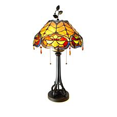 Tiffany-Style Rustic Baroque Art Glass Table Lamp