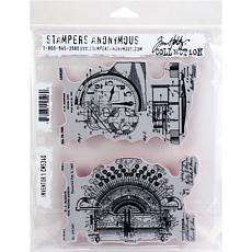 "Tim Holtz Cling Stamps 7"" x 8.5"" - Inventor 1"
