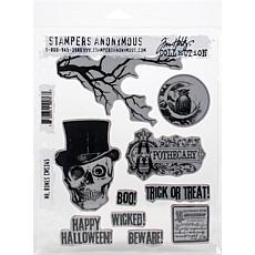 "Tim Holtz Cling Stamps 7"" x 8.5"" - Mr. Bones"