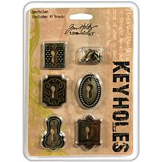 Tim Holtz Idea-Ology Keyholes - Set of 5