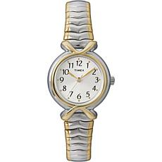 Timex Women's White Sunray Dial 2-Tone Expansion Band Watch