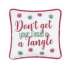 Tinsel In A Tangle Pillow