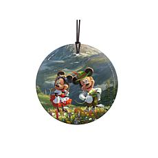 TK Disney Mickey and Minnie in the Alps Hanging Glass StarFire Print