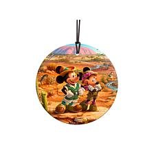 TK Disney Minnie & Mickey in the Outback Hanging Glass StarFire Print