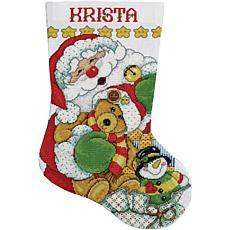 Tobin Santa Stocking Counted Cross Stitch Kit