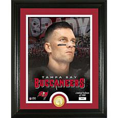 Tom Brady Tampa Bay Buccaneers Bronze Coin Photo Mint