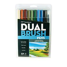 Tombow Dual Brush Pen 10-pack - Landscape