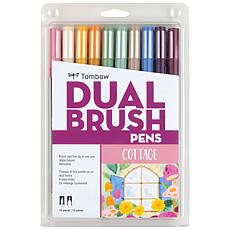 Tombow Dual Brush Pen Set 10-pack - Cottage