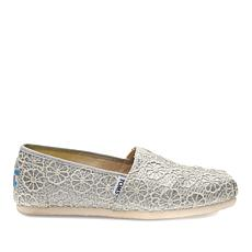 TOMS Classic Crochet Glitter Slip On-Womens
