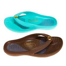 Tony Little Cheeks® 2-pack Medallion Health Sandal