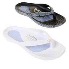 Tony Little Cheeks® 2-pack Sport Sandal with Gel Footbed
