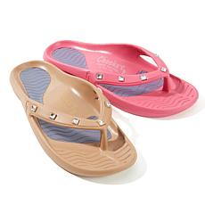 Tony Little Cheeks® 2-pack Square Jeweled Health Sandal
