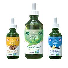 Tony Little Liquid Sweetener by Sweet Leaf 3-pk of Flavors Auto-Ship®