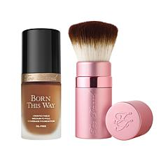 Too Faced Born This Way Mahogany Foundation with Kabuki Brush