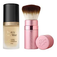Too Faced Ivory Forever Flawless Foundation and Brush Set