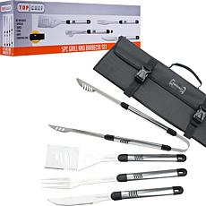 Top Chef 5-piece Stainless Steel BBQ Set