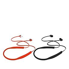 Toshiba Air Flex 2-pack Wireless Neckband Headset with In-Ear Earbuds