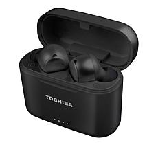 Toshiba Air Pro 2 Earbuds with Neck Cord & Wireless Charging Case