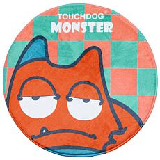 Touchdog Cartoon Sleepy Monster Rounded Cat and Dog Mat