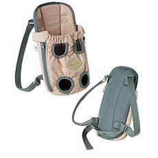 Touchdog Wiggle-Sack Fashion Designer Front and Backpack Dog Carrier