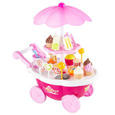 Toy Time Kids Ice Cream Cart with Food