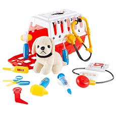 Toy Time Kids Veterinary 11-Piece Complete Toy Set
