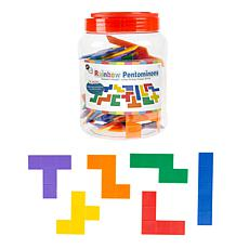 Toy Time Rainbow Pentominoes Tile Puzzle 72-Piece Set