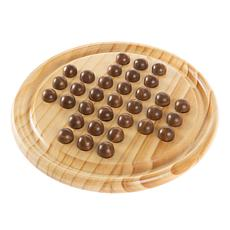 Toy Time Solitaire Wooden Board Game Set