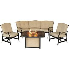 Traditions 4-piece Outdoor Lounge Set with Fire Pit