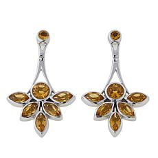 Traveler's Journey 3.5ctw Multicut Citrine Dangle Earrings