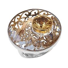Traveler's Journey Citrine and Swarovski® Crystal Ring